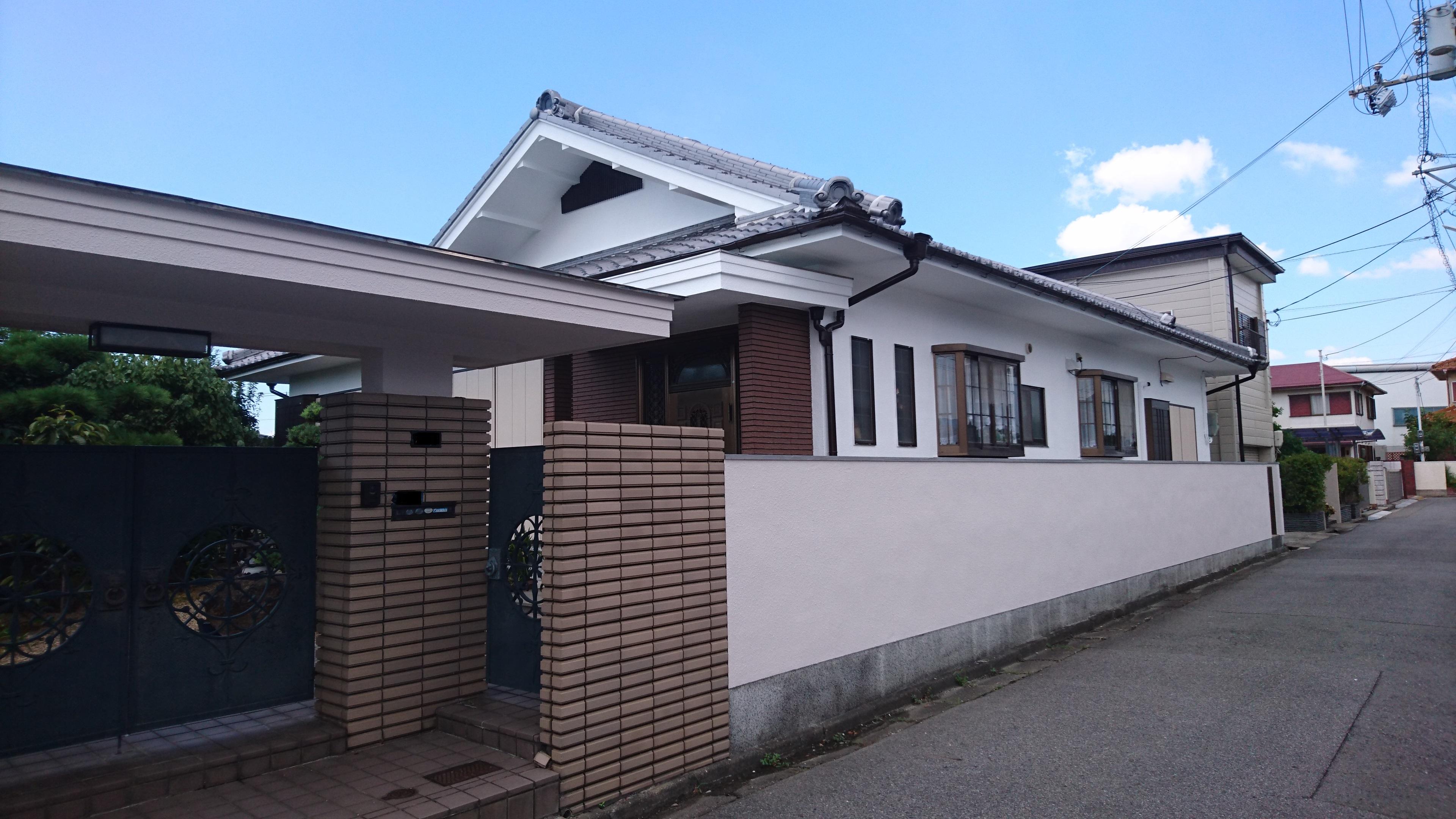 大阪府和泉市K様邸 外壁塗装工事-施工後