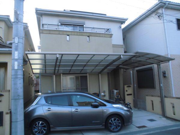 大阪府岸和田市N様邸 屋根 外壁塗装及び防水工事-施工前