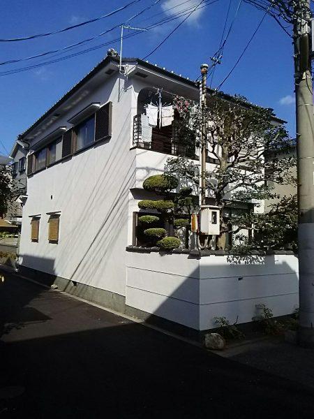大阪市鶴見区M様邸 外壁塗装及び外塀杉皮張替え工事-施工後