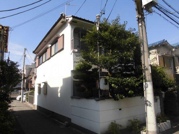 大阪市鶴見区M様邸 外壁塗装及び外塀杉皮張替え工事-施工前