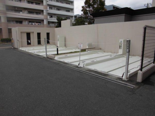 大阪市東住吉区フェアロージュ長居公園 立体駐車場塗装工事-施工後