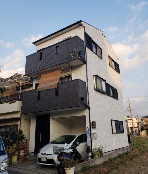 堺市東区O様邸 屋根外壁塗装及び防水工事-施工後