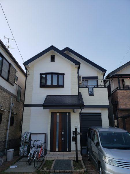 堺市中区I様邸屋根 外壁塗装工事及び防水工事-施工後