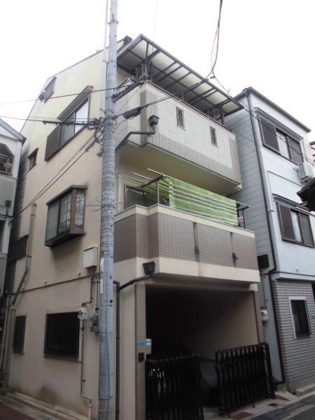 大阪市平野区K様邸 屋根 外壁塗装及び防水工事-施工前