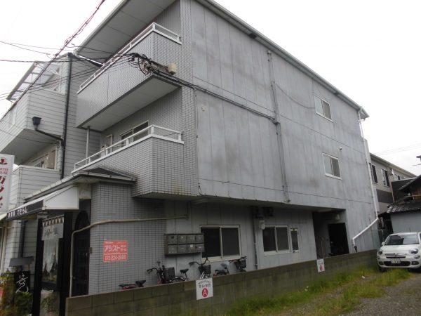 堺市堺区シャトー湊 屋根 外壁塗装及び防水工事-施工前