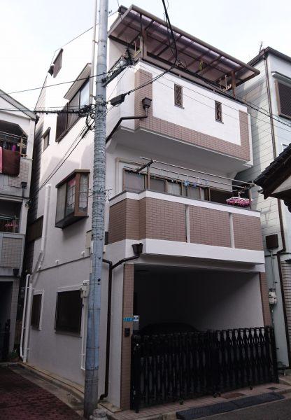 大阪市平野区K様邸 屋根 外壁塗装及び防水工事-施工後