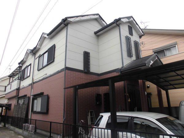 大阪府岸和田市T様邸 屋根 外壁塗装及び防水工事-施工前
