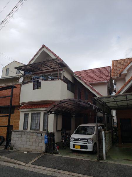大阪府和泉市M様邸 屋根 外壁塗装及び防水工事-施工後