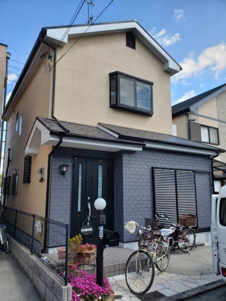 大阪府和泉市E様邸 屋根 外壁塗装及び防水工事-施工後