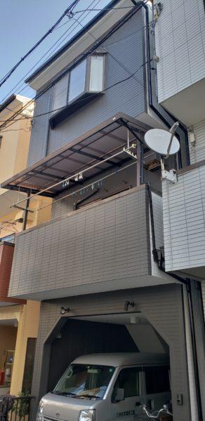 大阪市東成区K様邸 屋根 外壁塗装工事及び防水工事-施工後