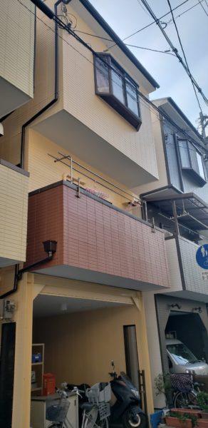 大阪市東成区H様邸 屋根 外壁塗装工事及び防水工事-施工後