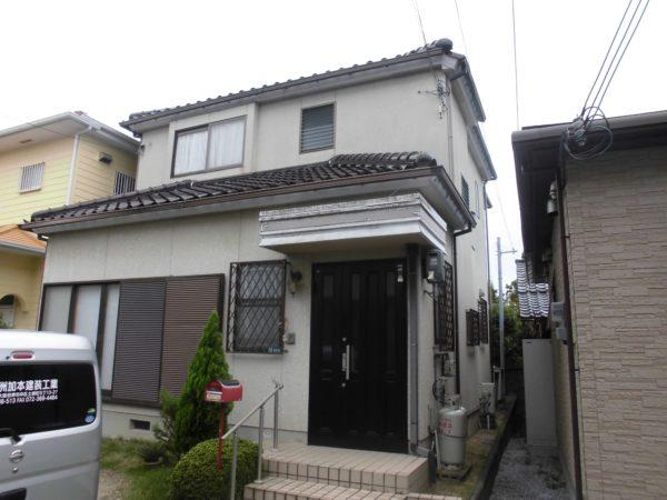 大阪府岸和田市N様邸 外壁塗装工事及び防水工事-施工前