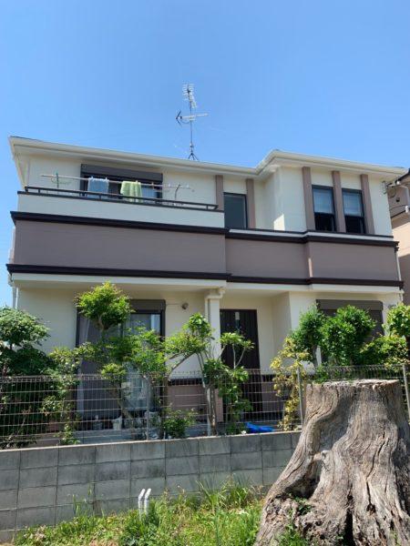 大阪府堺市中区M様邸 屋根 外壁塗装及び防水工事-施工後