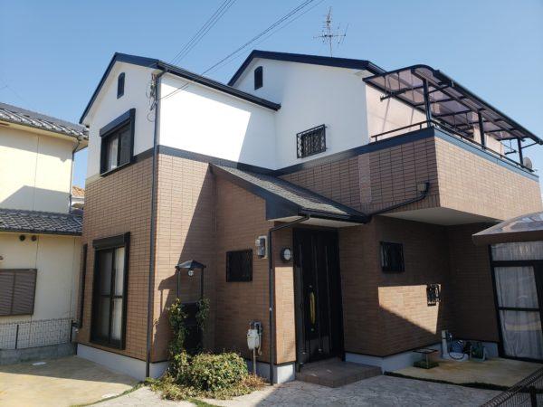 大阪府堺市北区O様邸 外壁塗装工事及び防水工事-施工後