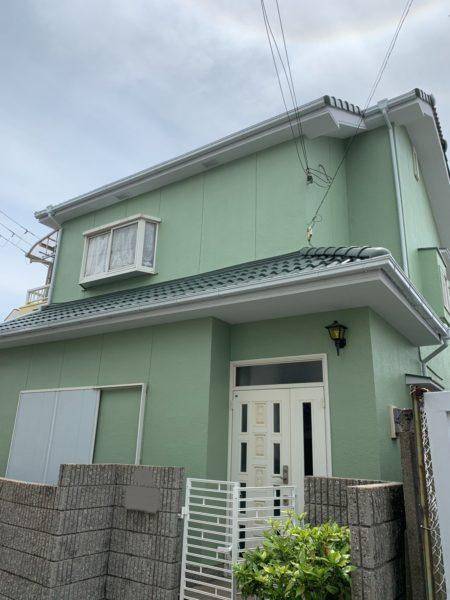 大阪府泉大津市M様邸 屋根 外壁塗装工事-施工後