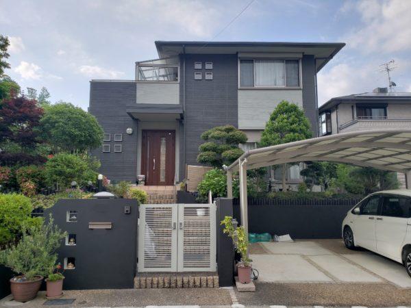 大阪府和泉市F様邸 屋根 外壁塗装及び防水工事-施工後