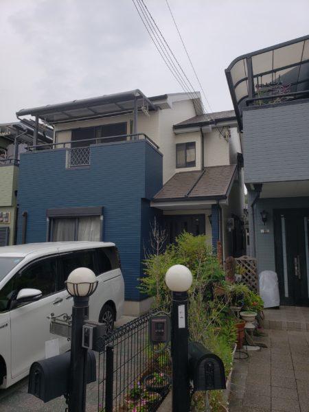 大阪府和泉市Y様邸 屋根 外壁塗装工事及び防水工事-施工後