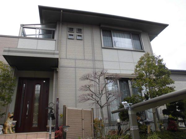 大阪府和泉市F様邸 屋根 外壁塗装及び防水工事-施工前