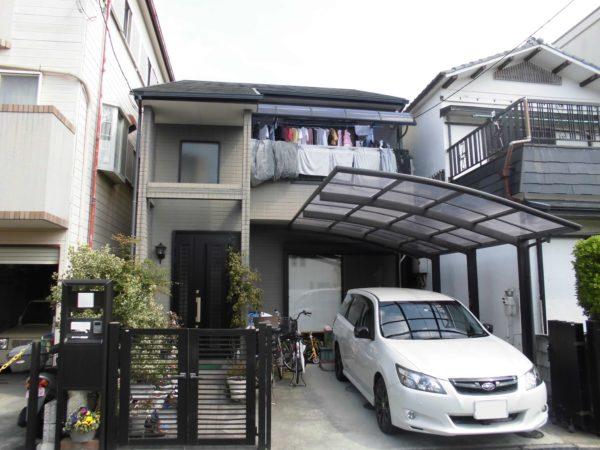 大阪府堺市中区T様邸 屋根 外壁塗装工事及び防水工事-施工前