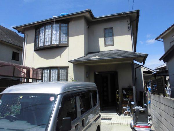 大阪府堺市中区Ò様邸 屋根 外壁塗装工事及び波板張り替え工事-施工前