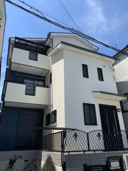 大阪府堺市西区K様邸 外壁塗装工事 屋根葺き替え工事及び防水工事-施工後