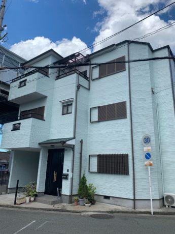 大阪府堺市西区S様邸 屋根 外壁塗装工事及び防水工事-施工後
