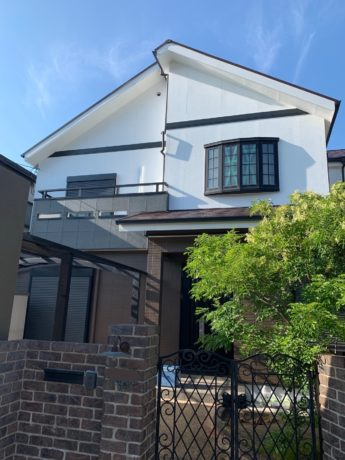 大阪府堺市西区K様邸 屋根 外壁塗装及び防水工事-施工後
