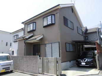 大阪府岸和田市O様邸 屋根 外壁塗装工事及び防水工事-施工前