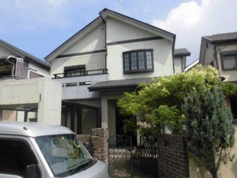 大阪府堺市西区K様邸 屋根 外壁塗装及び防水工事-施工前