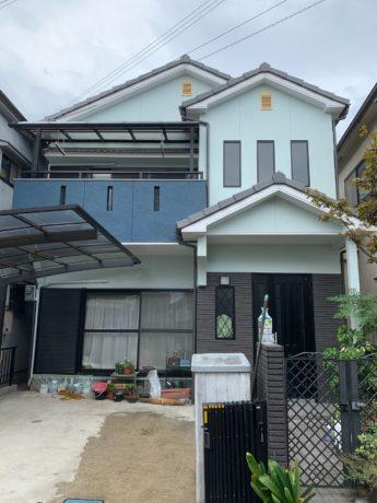 大阪府富田林市M様邸 屋根 外壁塗装及び防水工事-施工後