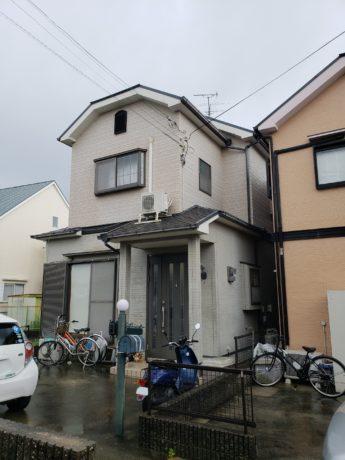 大阪府和泉市Y様邸 屋根 外壁塗装及び防水工事-施工前