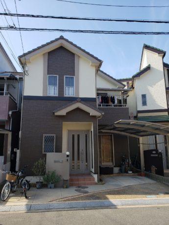 大阪府河内長野市N様邸 屋根 外壁塗装及び防水工事-施工後
