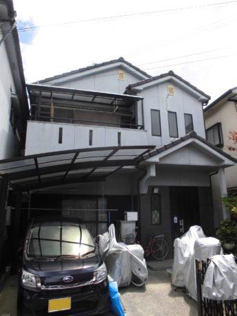大阪府富田林市M様邸 屋根 外壁塗装及び防水工事-施工前