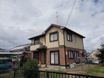 大阪府堺市南区H様邸 屋根 外壁塗装及び防水工事-施工前
