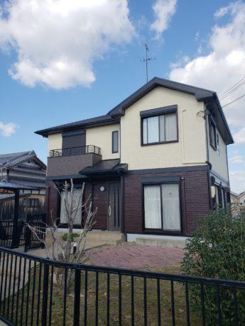 大阪府堺市南区H様邸 屋根 外壁塗装及び防水工事-施工後