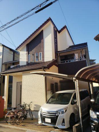 大阪府河内長野市F様邸 屋根 外壁塗装及び防水工事-施工後