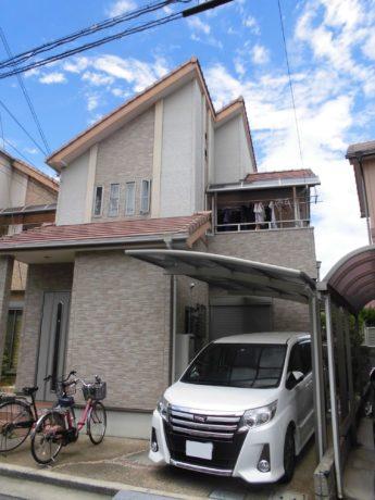 大阪府河内長野市F様邸 屋根 外壁塗装及び防水工事-施工前