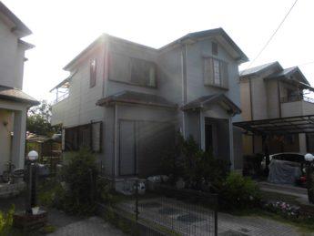 大阪府貝塚市K様邸 屋根 外壁塗装及び防水工事-施工前