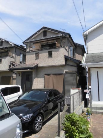大阪府堺市美原区S様邸 屋根 外壁塗装及び防水工事-施工前