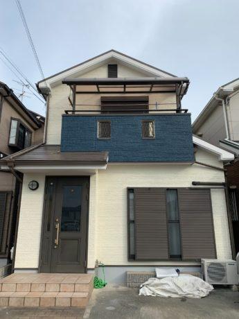 大阪府堺市美原区S様邸 屋根 外壁塗装及び防水工事-施工後