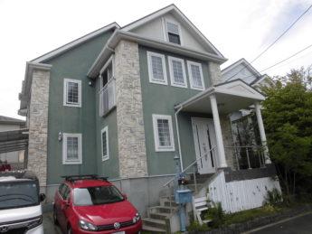 大阪府和泉市O様邸 屋根 外壁塗装及び防水工事-施工前