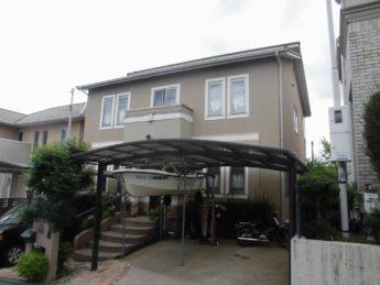 大阪府堺市南区K様邸 屋根 外壁塗装及び防水工事-施工前