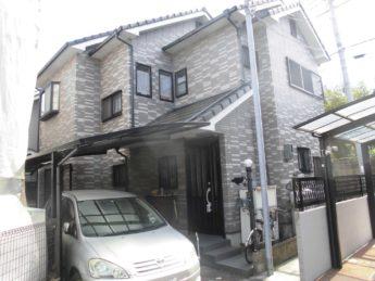 大阪府岸和田市Y様邸 屋根 外壁塗装及び防水工事-施工前