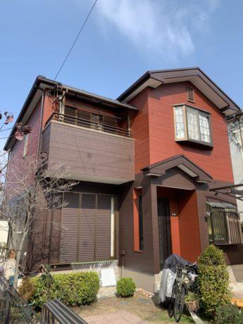 大阪府貝塚市T様邸 屋根 外壁塗装及び防水工事-施工後