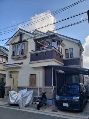 大阪府堺市中区W様邸 屋根 外壁塗装及び防水工事-施工後