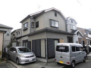 大阪府和泉市N様邸 屋根 外壁塗装及び防水工事-施工前