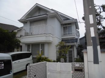 大阪府堺市東区K様邸 屋根 外壁塗装及び防水工事-施工前