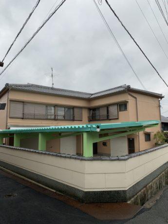 奈良県香芝市T様邸 外壁塗装及び駐車場鉄部塗装工事-施工後
