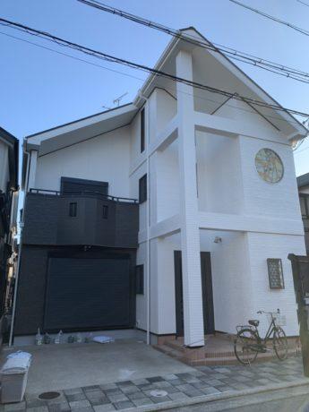 大阪府堺市西区T様邸 屋根 外壁塗装及び防水工事-施工後