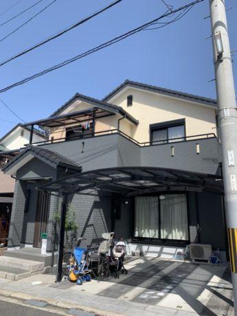 大阪府岸和田市K様邸 外壁塗装及び防水工事-施工後